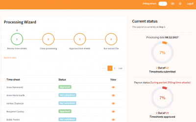 elementTIME – release 8.1 pay run processing wizard