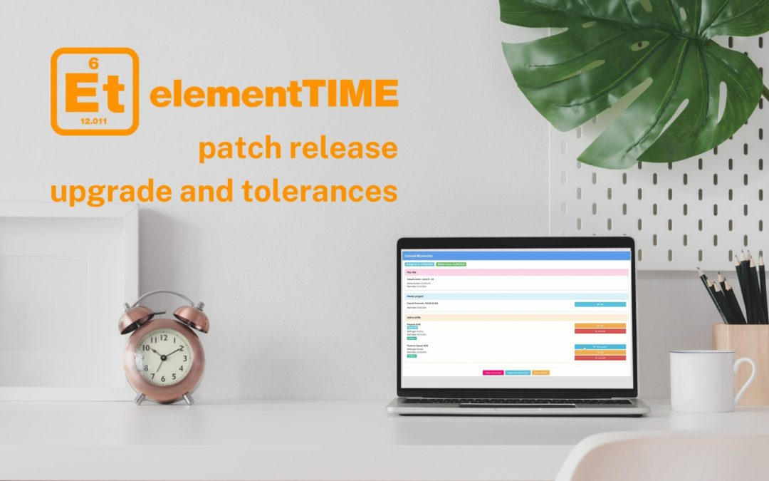 elementTIME patch release – upgrade and tolerances